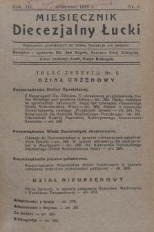 Miesięcznik Diecezjalny Łucki. 1928, nr 6