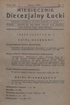 Miesięcznik Diecezjalny Łucki. 1928, nr 7