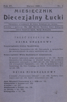 Miesięcznik Diecezjalny Łucki. 1929, nr 3