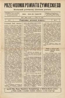 Przewodnik Powiatu Żywieckiego : miesięcznik poświęcony interesom powiatu. R.5, 1905, nr8