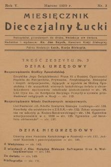 Miesięcznik Diecezjalny Łucki. 1930, nr 3