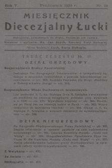 Miesięcznik Diecezjalny Łucki. 1930, nr 10