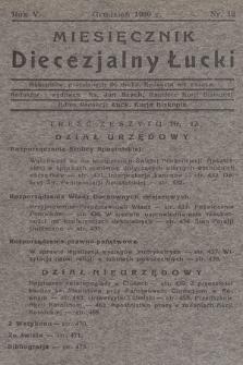 Miesięcznik Diecezjalny Łucki. 1930, nr 12
