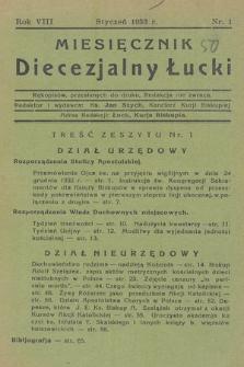 Miesięcznik Diecezjalny Łucki. 1933, nr 1