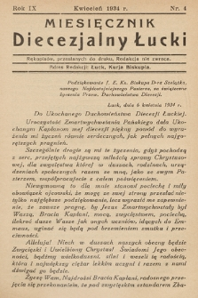 Miesięcznik Diecezjalny Łucki. 1934, nr 4