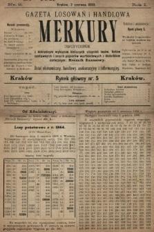Merkury : gazeta losowań i handlowa : dwutygodnik z dokładnym wykazem bieżących ciągnień losów, listów zastawnych i innych papierów wartościowych z dodatkiem corocznym: Rocznik finansowy. 1898, nr2