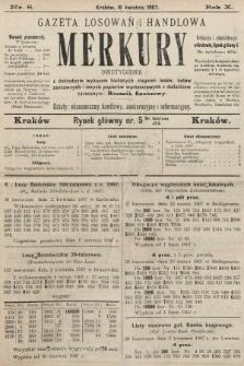 Merkury : gazeta losowań i handlowa : dwutygodnik z dokładnym wykazem bieżących ciągnień losów, listów zastawnych i innych papierów wartościowych z dodatkiem corocznym: Rocznik finansowy. 1907, nr8