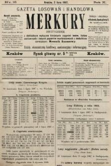 Merkury : gazeta losowań i handlowa : dwutygodnik z dokładnym wykazem bieżących ciągnień losów, listów zastawnych i innych papierów wartościowych z dodatkiem corocznym: Rocznik finansowy. 1907, nr13