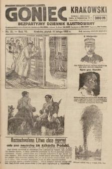 Goniec Krakowski : bezpartyjny dziennik popularny. 1923, nr21