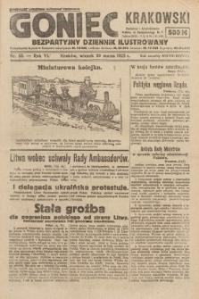 Goniec Krakowski : bezpartyjny dziennik popularny. 1923, nr53