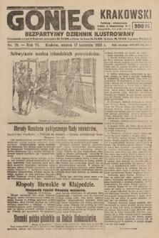 Goniec Krakowski : bezpartyjny dziennik popularny. 1923, nr78