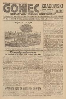 Goniec Krakowski : bezpartyjny dziennik popularny. 1923, nr84