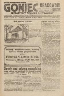 Goniec Krakowski : bezpartyjny dziennik popularny. 1923, nr171
