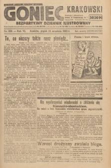 Goniec Krakowski : bezpartyjny dziennik popularny. 1923, nr222