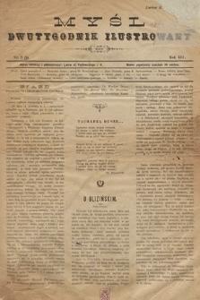 Myśl : Dwutygodnik literacko-społeczny, ilustrowany. 1893, nr 2 (9)