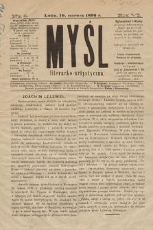 Myśl Literacko-Artystyczna. 1896, nr 8