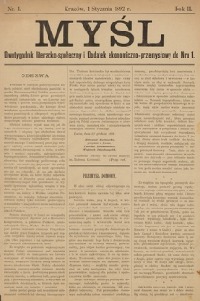 Myśl. 1892, nr 1