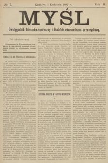 Myśl. 1892, nr 7
