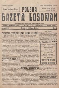 Polska Gazeta Losowań. 1929, nr2