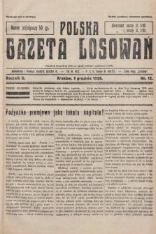Polska Gazeta Losowań. 1929, nr12