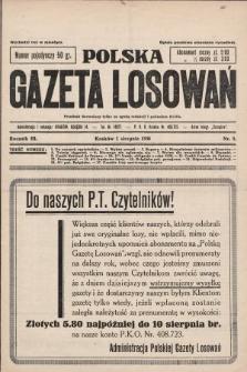 Polska Gazeta Losowań. 1930, nr8
