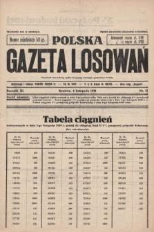 Polska Gazeta Losowań. 1930, nr11
