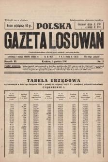 Polska Gazeta Losowań. 1930, nr12