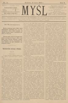 Myśl. 1892, nr 14