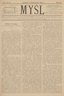 Myśl. 1892, nr 18 i 19