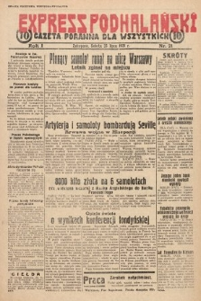 Express Podhalański : gazeta poranna dla wszystkich. 1931, nr21