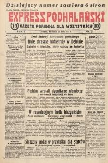 Express Podhalański : gazeta poranna dla wszystkich. 1931, nr22