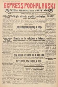 Express Podhalański : gazeta poranna dla wszystkich. 1931, nr24