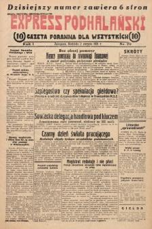 Express Podhalański : gazeta poranna dla wszystkich. 1931, nr29