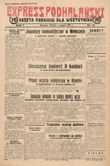 Express Podhalański : gazeta poranna dla wszystkich. 1931, nr31