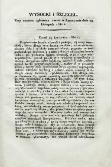 Polacy we Francyi : tygodnik awenioński. 1832, Wysocki i Szlegel