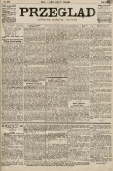 Przegląd polityczny, społeczny i literacki. 1899, nr270