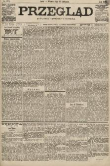 Przegląd polityczny, społeczny i literacki. 1899, nr272