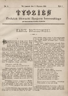 """Tydzień : dodatek literacki """"Kurjera Lwowskiego"""". 1899, nr2"""