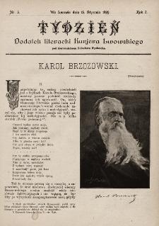 """Tydzień : dodatek literacki """"Kurjera Lwowskiego"""". 1899, nr3"""