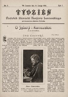 """Tydzień : dodatek literacki """"Kurjera Lwowskiego"""". 1899, nr8"""