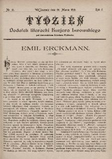 """Tydzień : dodatek literacki """"Kurjera Lwowskiego"""". 1899, nr13"""