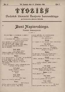 """Tydzień : dodatek literacki """"Kurjera Lwowskiego"""". 1899, nr17"""