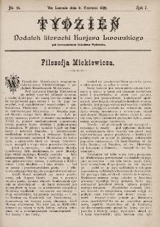 """Tydzień : dodatek literacki """"Kurjera Lwowskiego"""". 1899, nr24"""