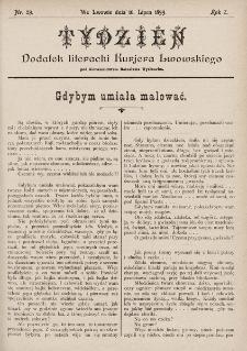 """Tydzień : dodatek literacki """"Kurjera Lwowskiego"""". 1899, nr29"""