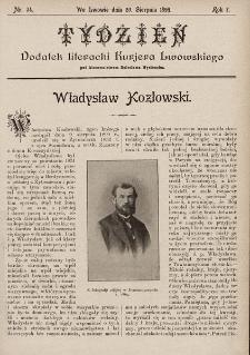 """Tydzień : dodatek literacki """"Kurjera Lwowskiego"""". 1899, nr34"""
