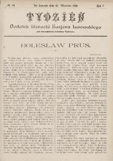 """Tydzień : dodatek literacki """"Kurjera Lwowskiego"""". 1899, nr39"""