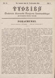 """Tydzień : dodatek literacki """"Kurjera Lwowskiego"""". 1899, nr43"""