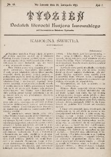"""Tydzień : dodatek literacki """"Kurjera Lwowskiego"""". 1899, nr48"""