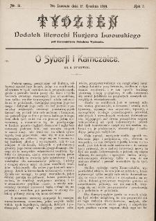 """Tydzień : dodatek literacki """"Kurjera Lwowskiego"""". 1899, nr51"""