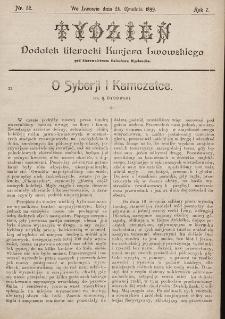 """Tydzień : dodatek literacki """"Kurjera Lwowskiego"""". 1899, nr52"""